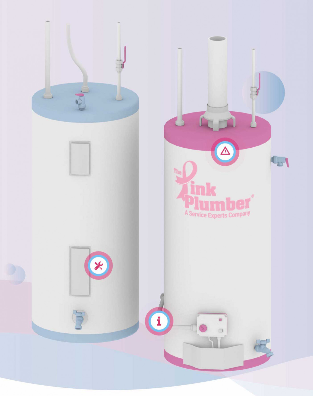 Image of website for The Pink Plumber