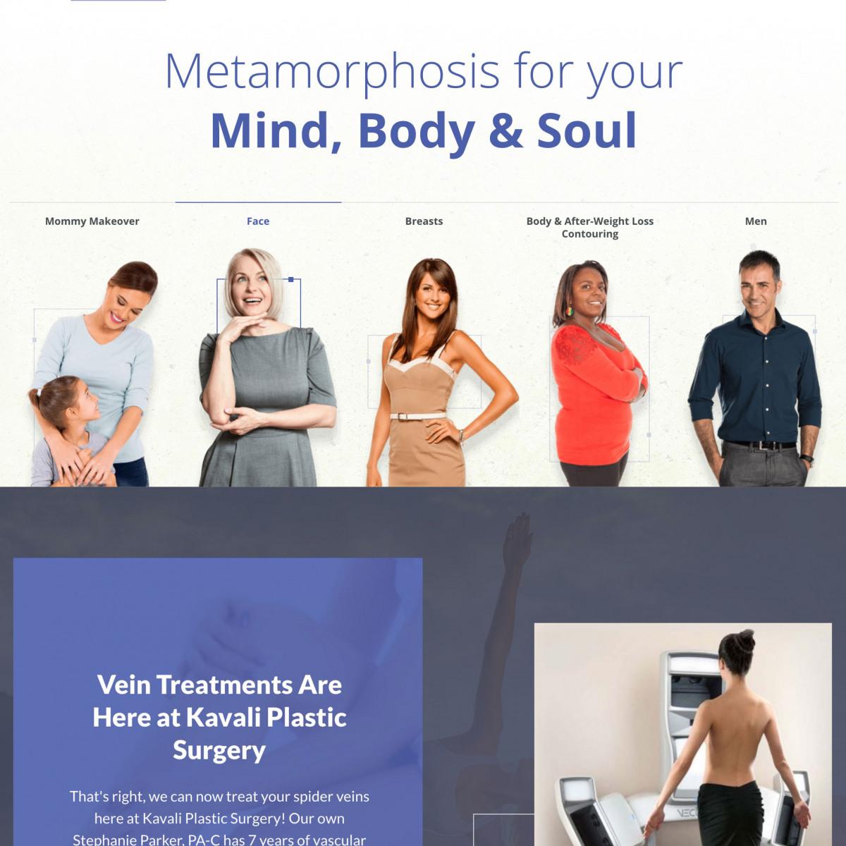 Image of website for Kavali Plastic Surgery & Skin Renewal