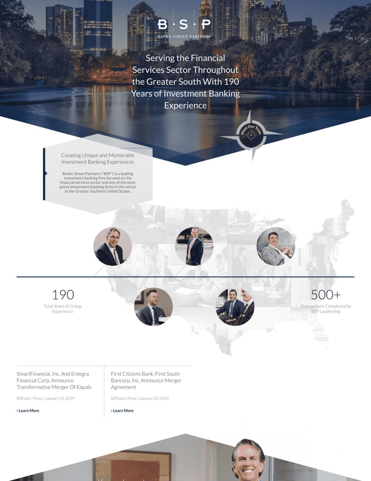 Image of website for Banks Street Partners