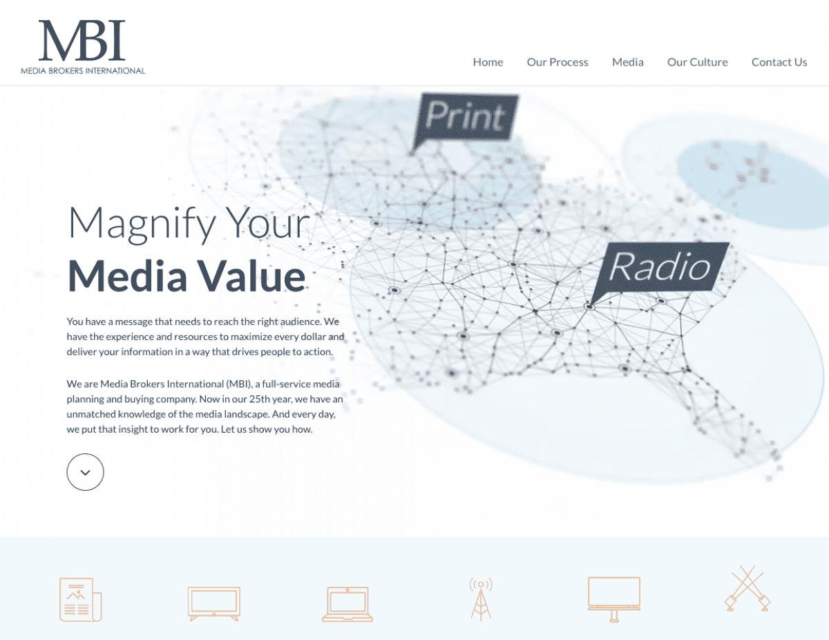 Image of website for Media Brokers International