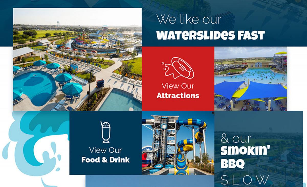 Image of website for Typhoon Texas Waterpark