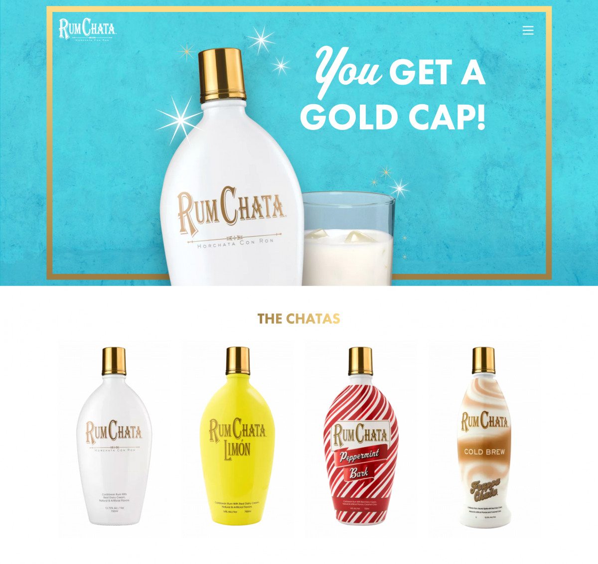 Image of website for RumChata