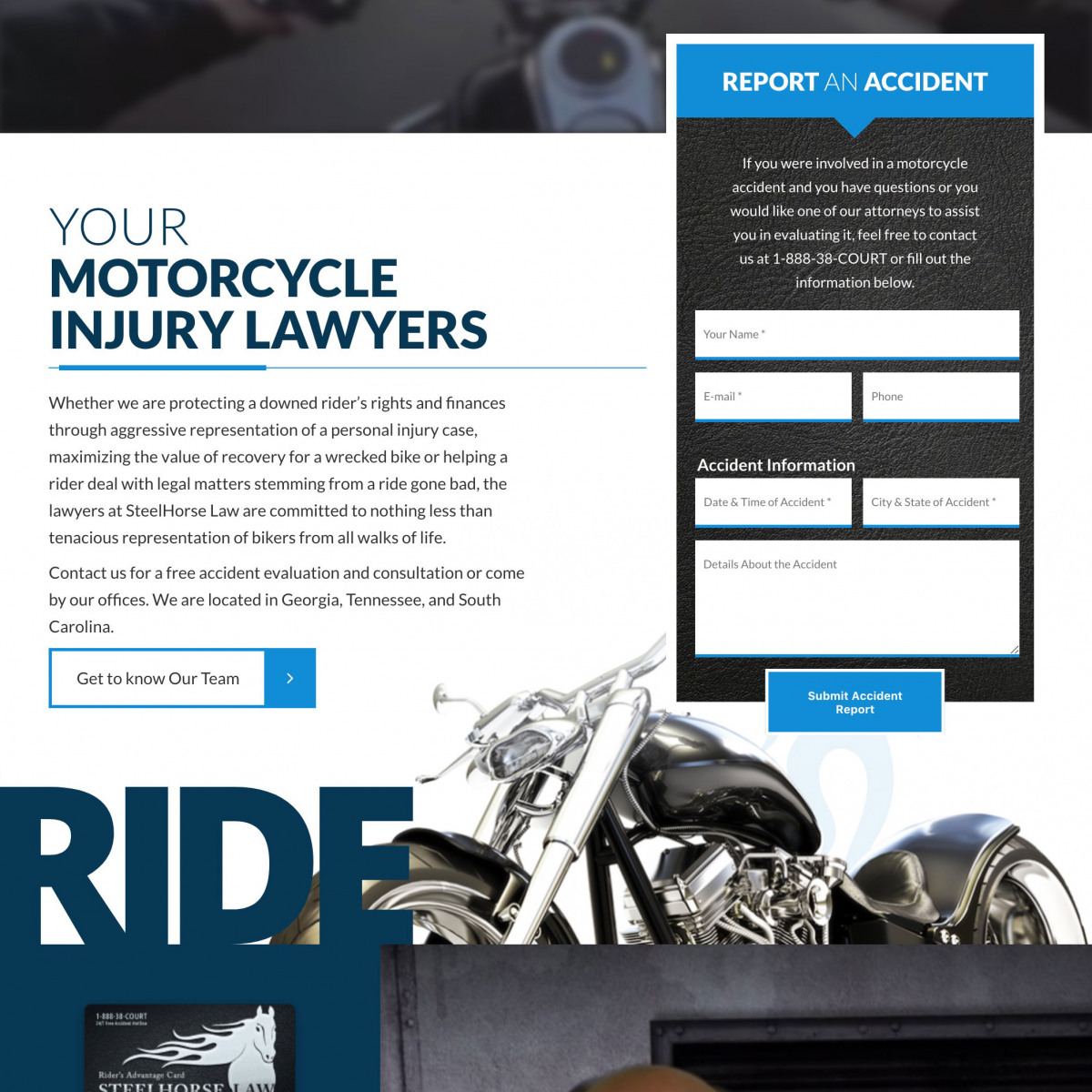 Image of website for Steelhorse Law