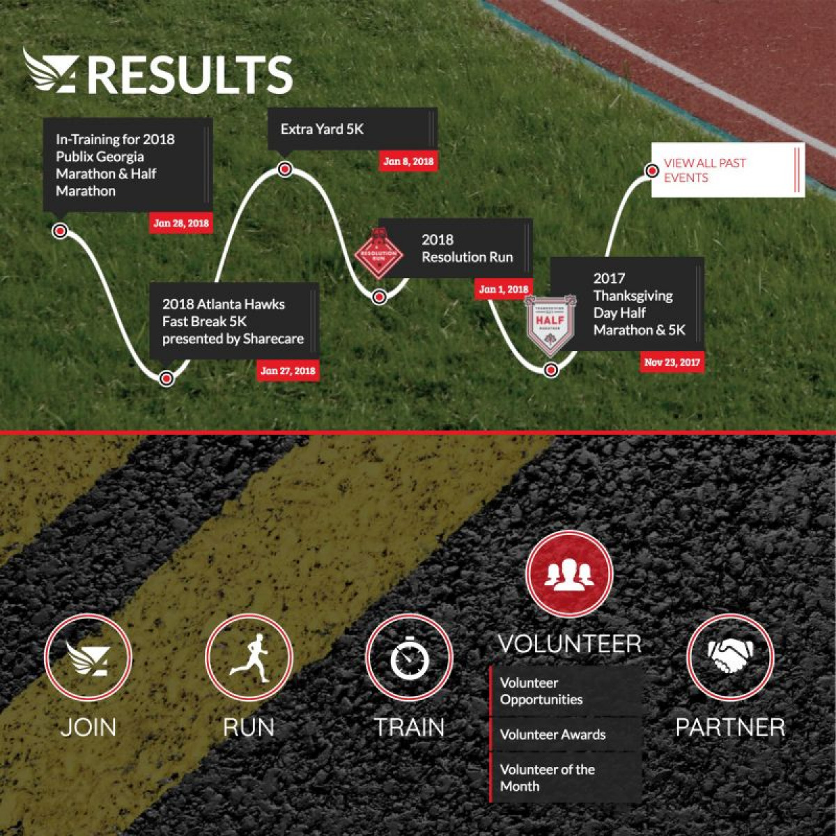 Image of website for Atlanta Track Club