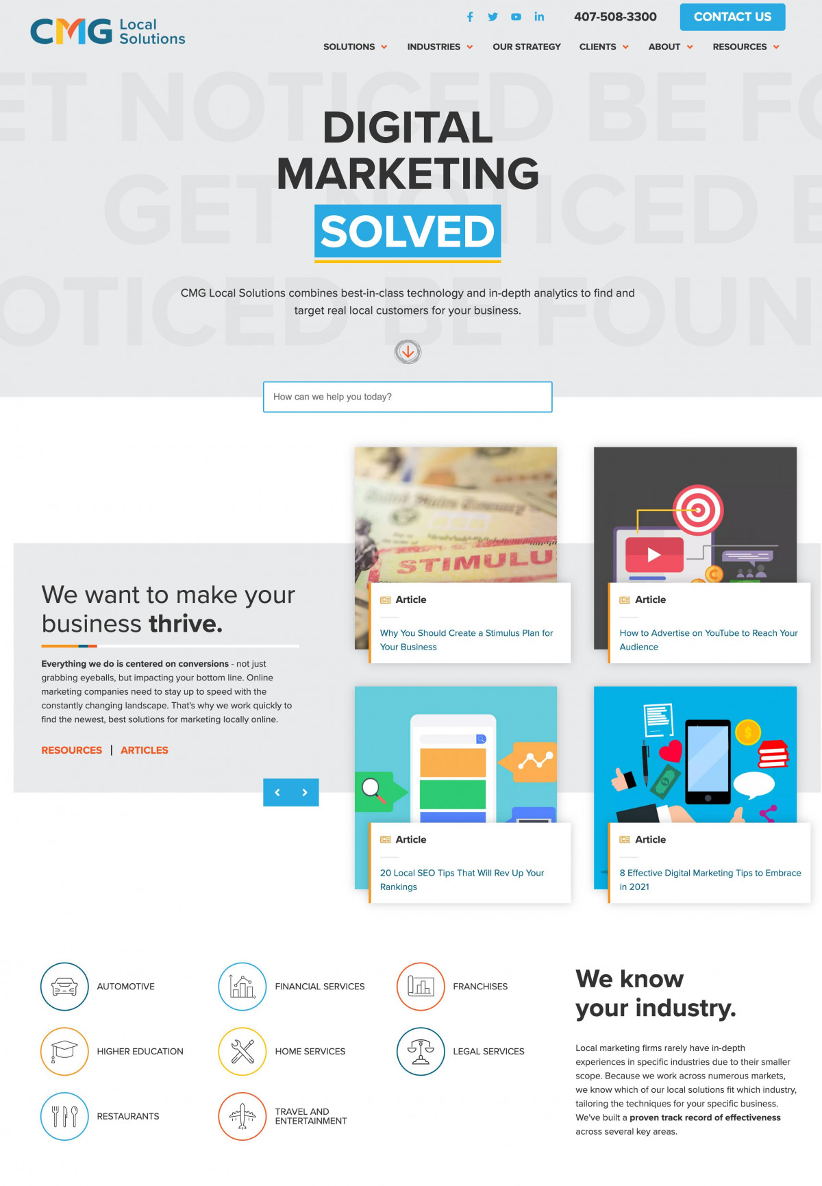 Image of website for CMG Local Solutions