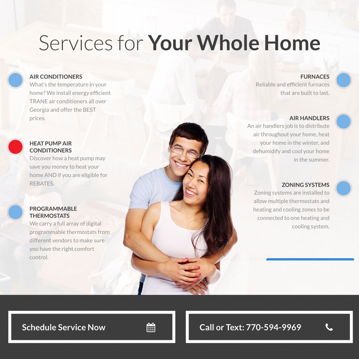 Image of website for Reliable Heating & Air