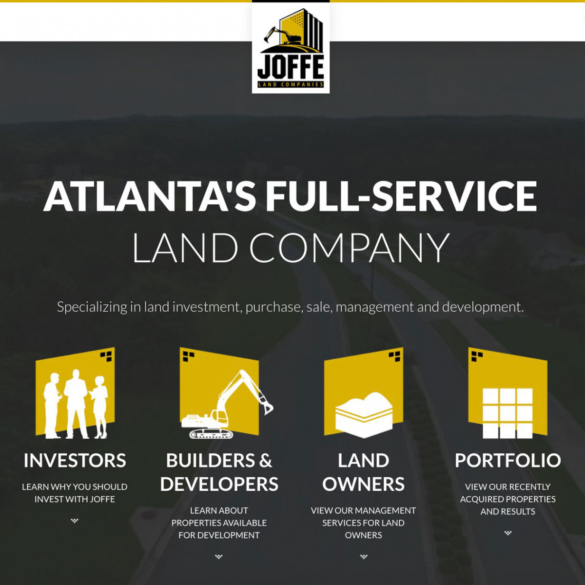 Image of website for Joffe Land Companies
