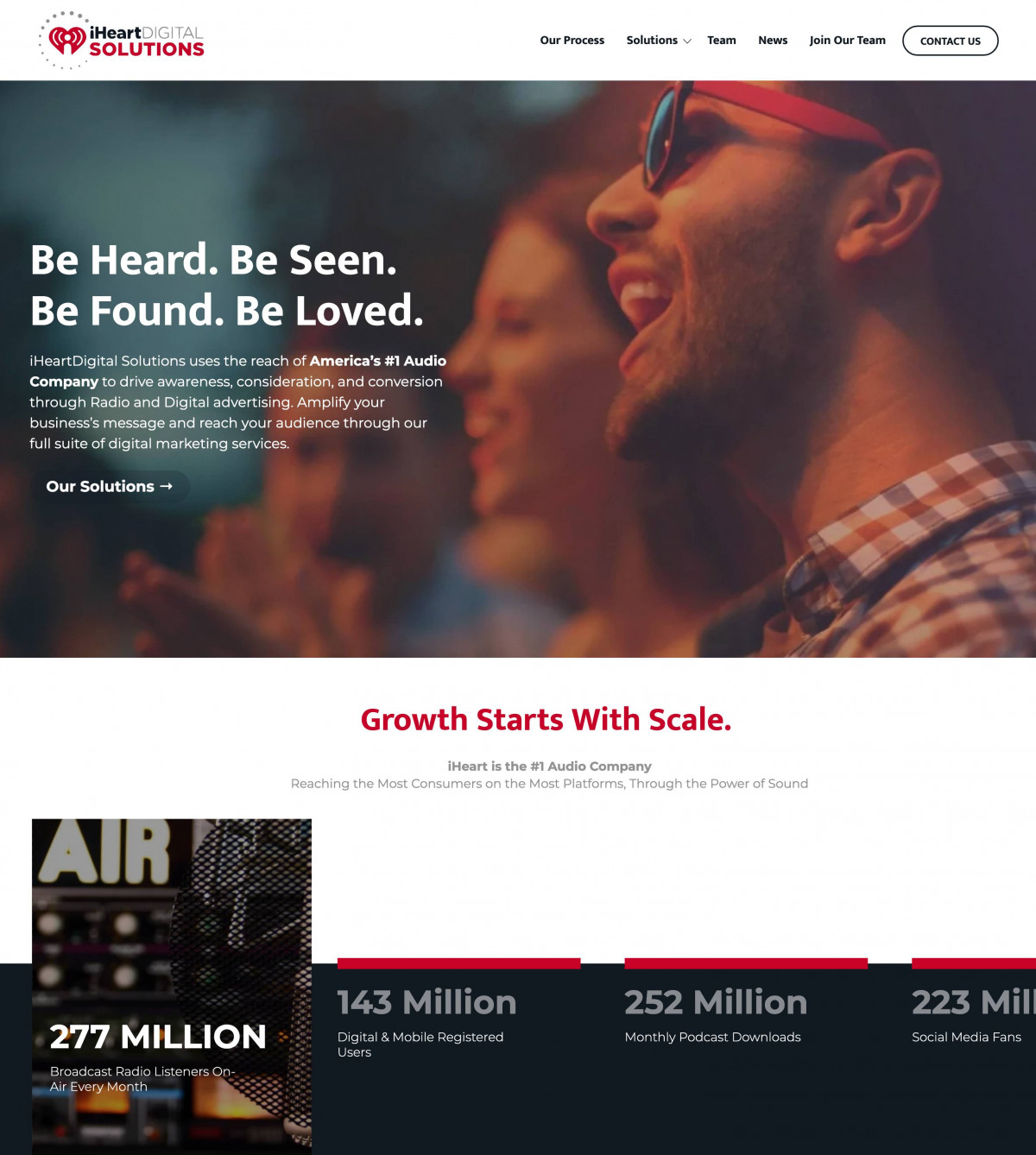 Image of website for iHeart Digital Solutions