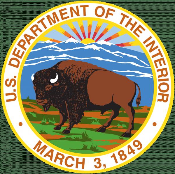 US dept of the interior Federal logo