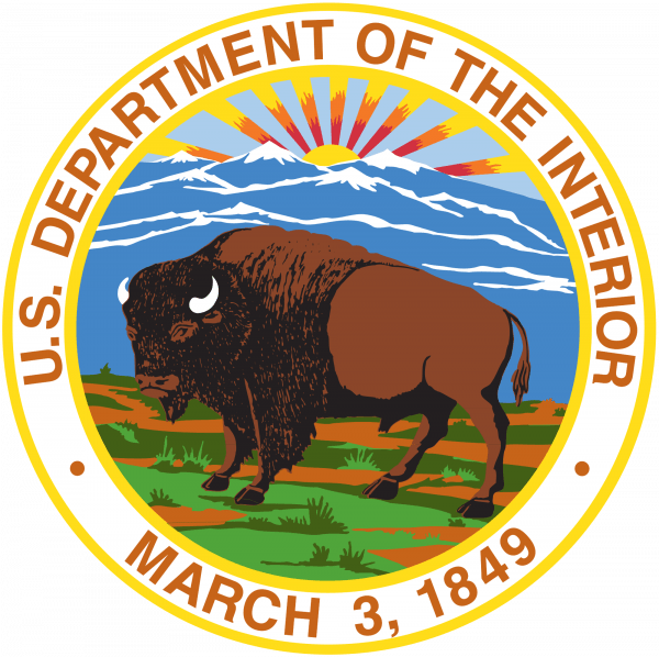 US dept of the interior Federal logo