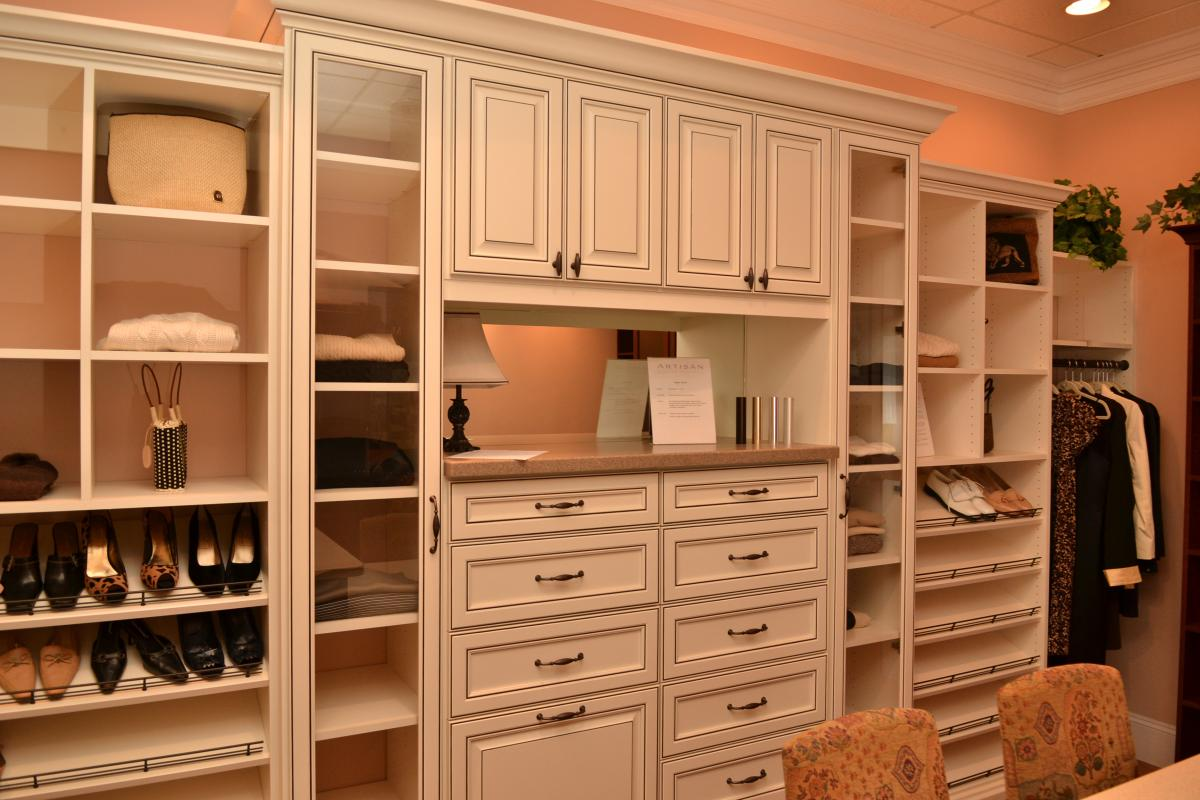 Custom Closet White Finish