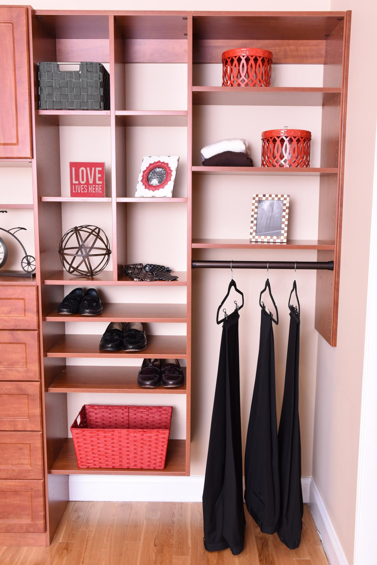 Closet Shelving - Wood Finish