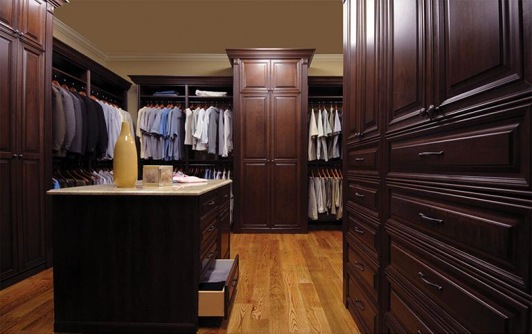 Wood Walk-in Closet