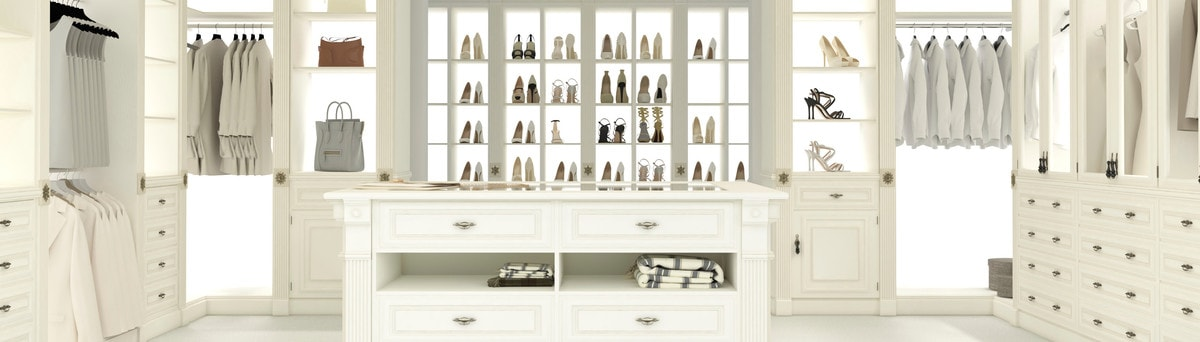 White Finish Custom Closet