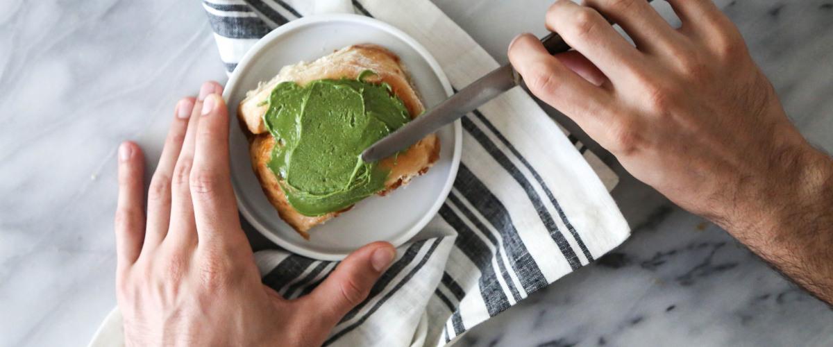 Apricot Matcha Breakfast Rolls