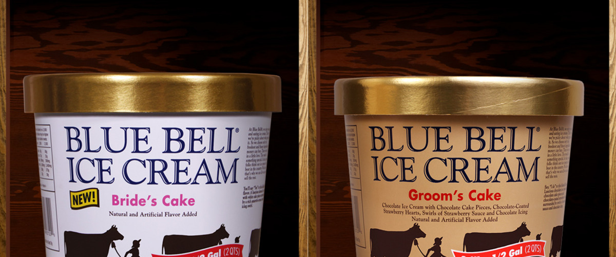 wedding cake blue bell ice cream blue bell introduces new s cake amp groom s cake 22027