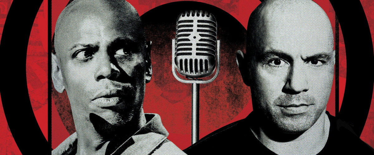 Dave Chappelle and Joe Rogan at the Smoothie King Center