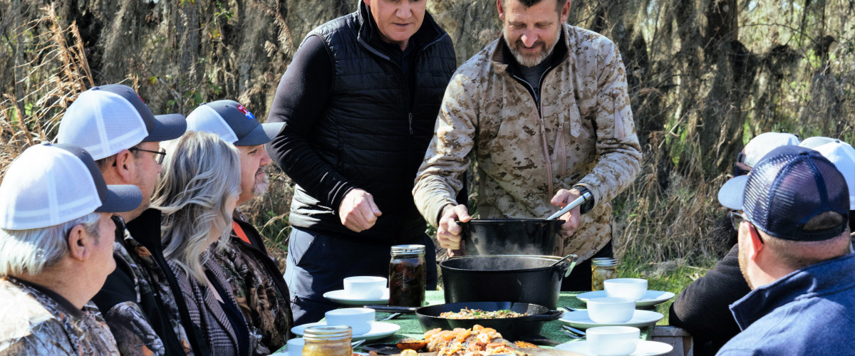 Gordon Ramsay Learns Cajun Cooking From Local Chef Eric Cook
