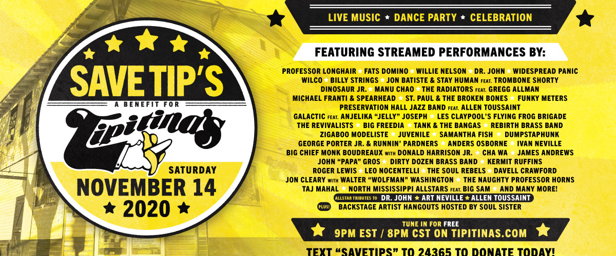 Support Musical Artists With Tipitina?s Livestream