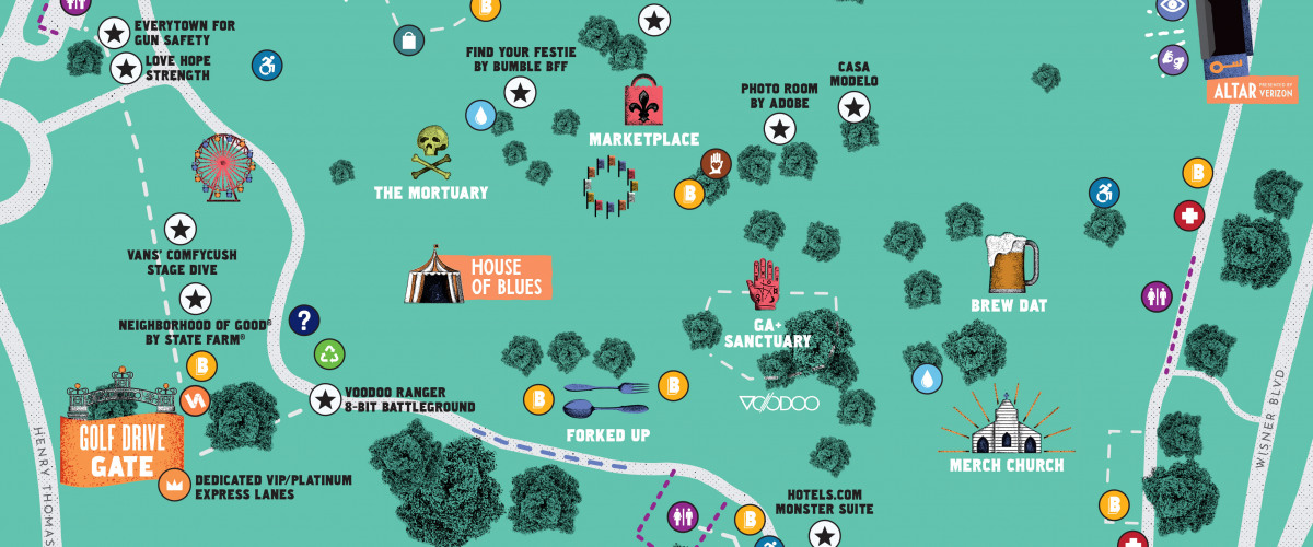 Voodoo Fest 2019 Friday Schedule and Map