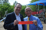 Johns Creek Mayor Mike Bodker and Dr. Joseph Chandler