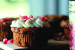 Sweet Potato + Pomegranate Cupcakes