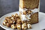 CRUNCHY CARAMEL POPCORN LAYER CAKE
