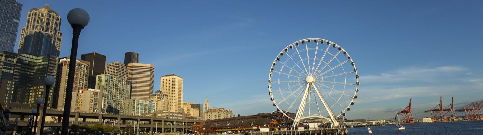Seattle Ferris Wheel At Pier 57 Great