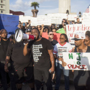 Hundreds Gather at Lee Circle Rally on on July 8
