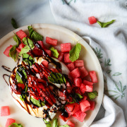 Probably This!: Watermelon & Burrata Caprese Salad