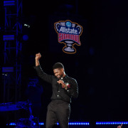 Sheryl Crow and Usher at Dick Clark's New Year's Rockin' Eve