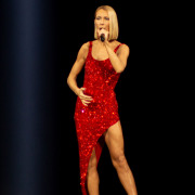 Celine Dion performs at the Smoothie King Center