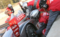 Image of Audi R10 in the Pits: Petit LeMans at Road Atlanta