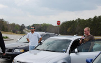 Image of Chris and Michael on the road to Roebling