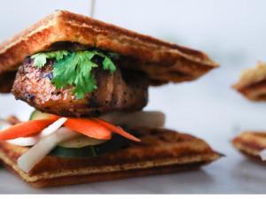 Pork Belly Waffle Banh Mih