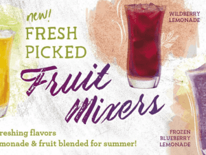 PJ?s Coffee Serves Up New Fruit Mixers for Summer