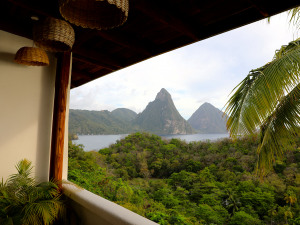 Jungle+Mountains+Beach = Anse Chastenet