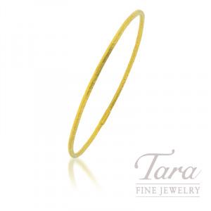 24K Yellow Gold Bangle Bracelet, 7.4G