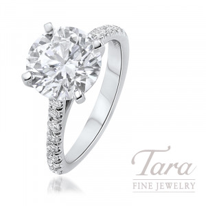 J.B. Star Diamond Engagement Ring, 4.00CT Forevermark Diamond, 6.3G, .38TDW (Center Stone Sold Separately)