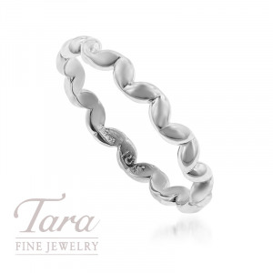 18K Rose, Yellow, or White Gold Wave Stackable Ring