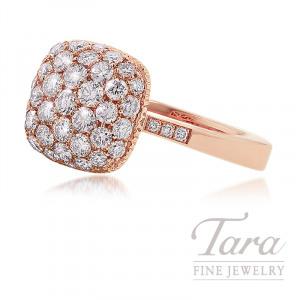 18K Rose Gold Diamond Pave Fashion Ring, 6.9G, 1.40TDW