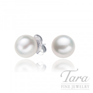 Mikimoto 18k White Gold Pearl Stud Earrings - Click for Available Sizes!