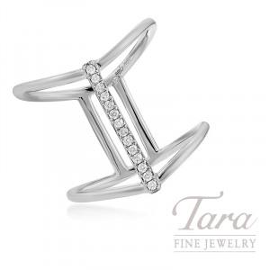 18k White Gold Diamond Fashion Ring, 4.0G, .08TDW