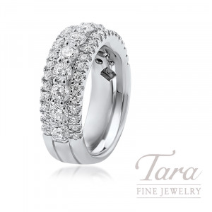 18K White Gold Diamond Band, 10.5G, 2.06TDW