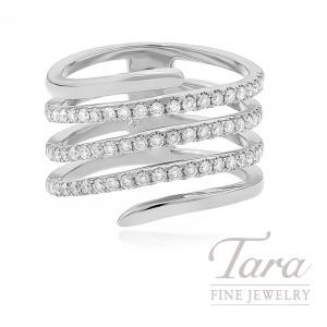 18k White Gold Diamond Wrap Ring, 7.9G, .65TDW