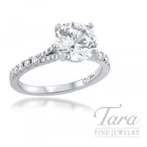 18K White Gold Diamond Wedding Set, 0.54TDW