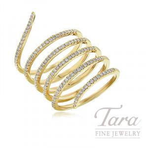 18K Yellow Gold Diamond Wrap Ring, 8.3G, .53TDW