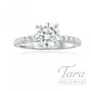 Forevermark 18K White Gold Diamond Halo Engagement Ring, 1.52CT Round Diamond, 4.2G, 0.34TDW (Forevermark Center Stone Sold Separately)