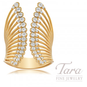 Norman Covan 18k Rose Gold Diamond Fashion Ring 1 05tdw Tara Fine Jewelry