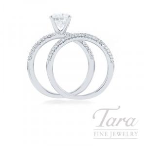 18k White Gold Pave Forevermark Diamond Wedding Set, .70CT Forevermark Diamond, .43TDW (Center Stone Sold Separately)